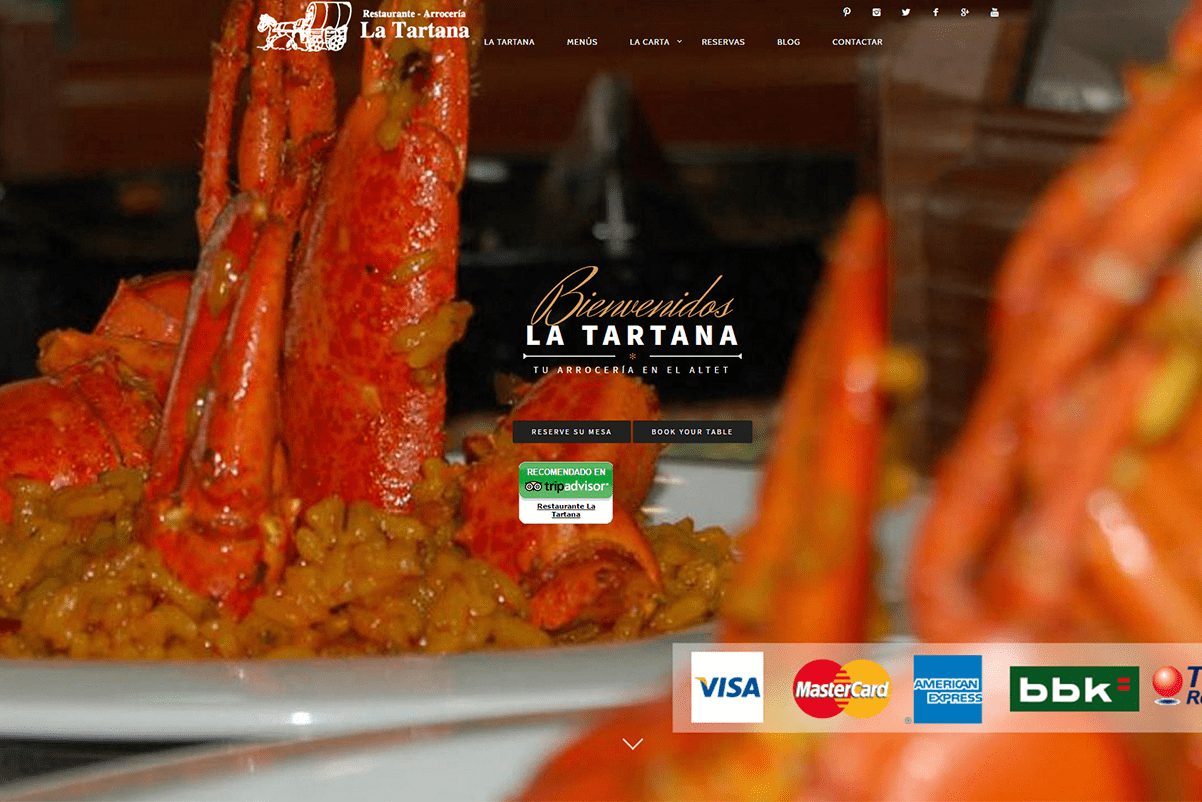 pagina-web-restaurante-la-tartana