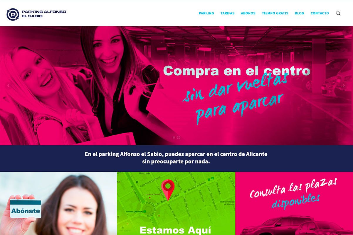 diseño-web-wordpress-parking-alfonso-el-sabio