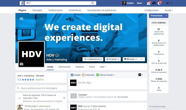 verifica tu pagina de Facebook