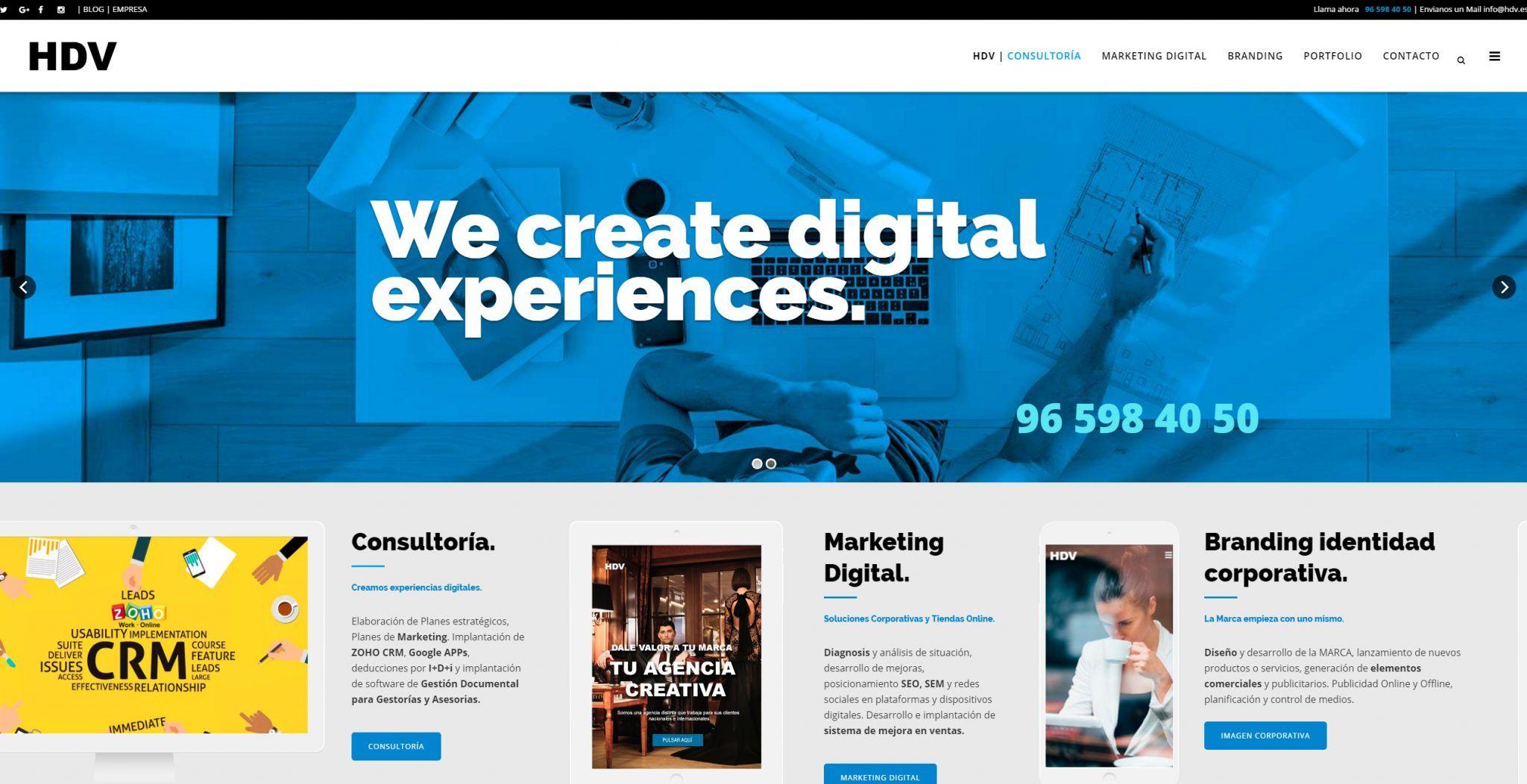 Nueva Página Web de HDV