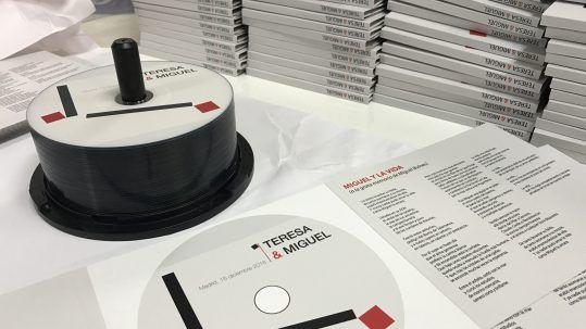diseño y maquetación de discos